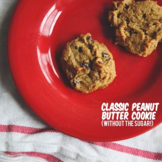 classic peanut butter cookie (without sugar!).