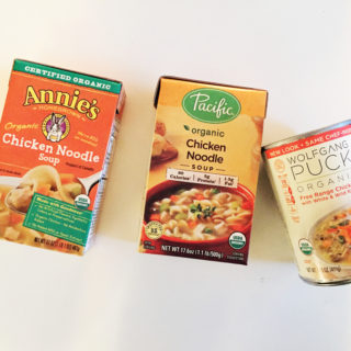 grocery store organic soup test.
