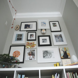 a complete collage wall in the boys' room, plus a solution for those oddly sized ikea mats!