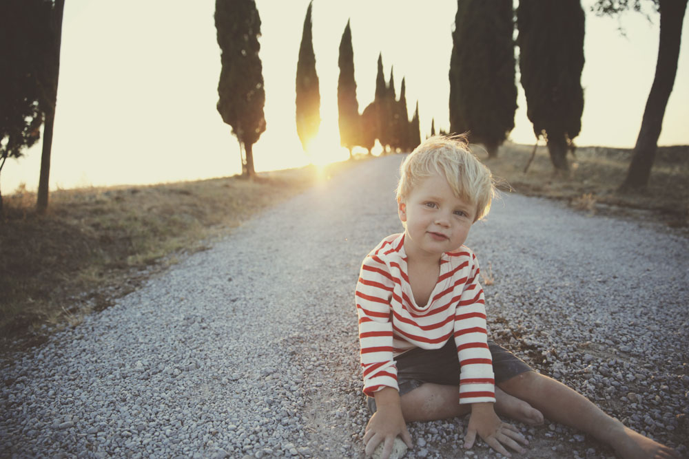 Boys in Val D'Orcia.